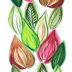 Design: FRUTTI (pink)  Designer: Louise Videlyck (Sweden)  Manufacturer: Kinnamark Composition: 100% Cotton Width: 140 cm  Repeat: 260 cm