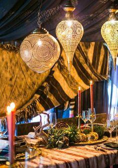 Arabian nights   Drapery, lanterns, candles   White Lilac Inc.   Event Design for Weddings, Fashion, Social, Corporate.   www.whitelilacinc.com