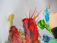 Aprende con jugar en casa: Palillos y pintura. Invitación a Crear