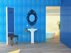 Modern Powder Room Great Way To Add A Shelf Elegant Bathroom Modern