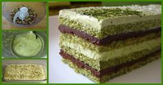 Matcha Opera Cake , with layers of green tea genoise, chocolate ganache, and green tea buttercream. I believe Sadaharu Aoki& version also . Sans Fructose, Sweet Recipes, Cake Recipes, Opera Cake, Pistachio Cake, Asian Desserts, Food Cakes, Something Sweet, Sweet Bread