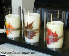 Anyone Can Decorate: Fun Fall Candles - Easy Peasy DIY