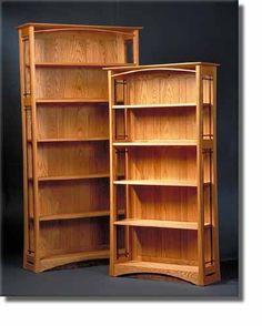 "Erasmus Designs - ""Walker"" Bookcases. American Red Oak and Black Walnut."