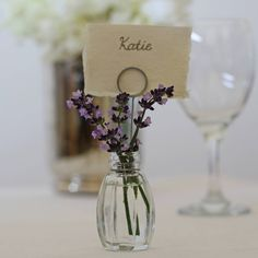 set of four bud vase name card holders by the wedding of my dreams   notonthehighstreet.com