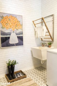 How to Add Storage and Style to Small Mudroom via House by Hoff