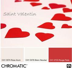Associé à l'amour et à la passion, le rouge est sans conteste la couleur de ce 14 février! Toujours très élégant associé au blanc comme aux blancs colorés. Bonne Saint Valentin à tous! www.chromaticstore.com