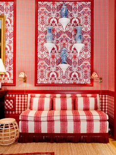 2015 Kips Bay Decorator Show House - Red Dining Room - Mark D Sikes