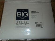 $19.99 OBO!  BRAND NEW Kohls THE BIG ONE 3 PC WHITE Sheet Set TWIN Cotton Blend 275 Thread Count! On @eBay! http://r.ebay.com/k9Umr2