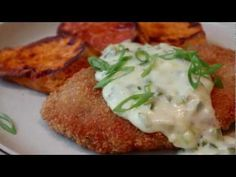 Crispy Pork Cutlets with Creamy Jalapeno Green Onion Gravy