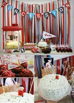 Love the popcorn machine idea!! ..pinterest baseball party ideas | Party Ideas / Baseball Party
