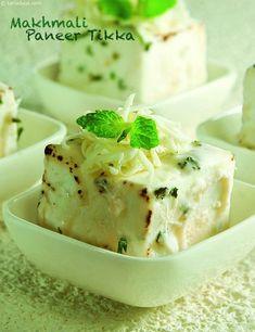 Makhmali Paneer Tikka ( Kebabs and Tikkis Recipe)