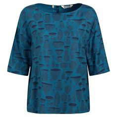 Designer Clothes, Shoes & Bags for Women Boat Neck Tops, Top Boat, Stonechat, Blue Blouse, Teal Blue, Blue Tops, Tunic Tops, Joules, Clothes For Women