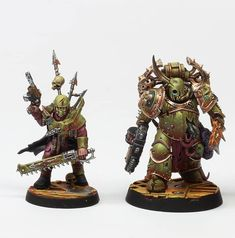 Death Guard Plague Marine and Chaos Cultist of Nurgle Warhammer Figures, Warhammer Paint, Warhammer Models, Warhammer 40k Miniatures, Warhammer 40000, Age Of Sigmar, Chaos Legion, Warhammer Imperial Guard, Orks 40k