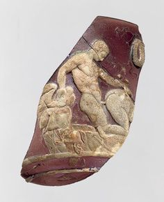 Cameo cup fragment with lovemaking scene, first half of 1st century a.d. Roman Glass - The Metropolitan Museum of Art