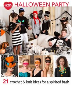 Halloween Party Free Knit and Crochet Pattern eBook