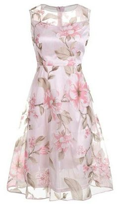 Floral summer party dress
