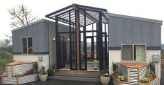 Top 18 Shipping Container Home Designs 2018 - Shipping Container House Design 8 Tiny House Builders, Tiny House Nation, Tiny House Plans, Small Room Design, Tiny House Design, Shipping Container Home Designs, Shipping Containers, Casas Containers, Building A Container Home