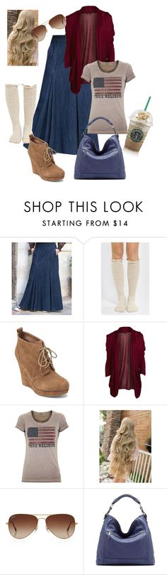 """""""The Vibe"""" by jewelfield ❤ liked on Polyvore featuring Jessica Simpson, VILA, True Religion, Rayban and Vince Camuto"""