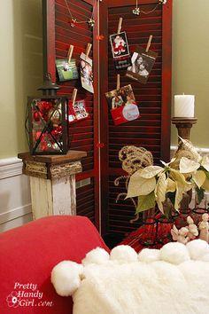 diy-ways-to-display-holiday-cards -- shutter display