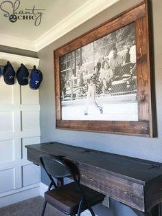 DIY Large Photo Frame found @ shanty-2-chic.com