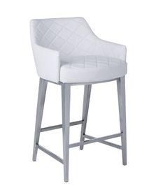 White Leather Barstools casabianca vittoria italian white leather bar stool | white