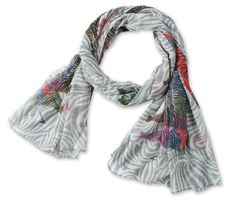 Corciova®  Long Colorful Zebra-printed Cotton Scarf Grey