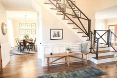 stair railing - The Chip 2.0 House – Season 3 Fixer Upper by Chip & Joanna Gaines
