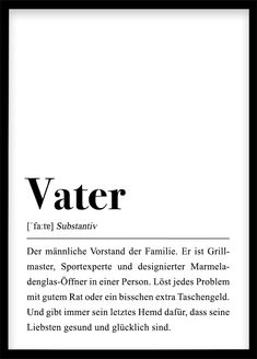 Vater Definition Father Definition Poster Gift For Dad, You Will Dad, Pregnancy Announcement, Fir Surprise Boyfriend, Boyfriend Gifts, Diy Presents, Nouvel An, My New Room, Gifts For Father, Definitions, Announcement, Gift Ideas