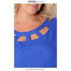 Look básico e fashion que amamos. 💙 (ref. 10967) Blusa viscose lisa + (ref. 60107) Bermuda c/ bolsos #fammix #modagrande #modafeminina #plussize #plussizefashion #plussizebrasil #plussizemodel