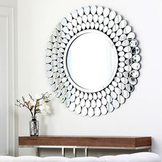 @Overstock - Abbyson Living Radiance Round Wall Mirror - Give your home or office a new look with this great mirror. This mirror can elevate the look and feel of any room  http://www.overstock.com/Home-Garden/Abbyson-Living-Radiance-Round-Wall-Mirror/8265322/product.html?CID=214117 $342.89