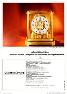 Original-Werbung/ Anzeige 1969 - JAEGER-LECOULTRE ATMOS UHR - ca. 180 x 240 mm