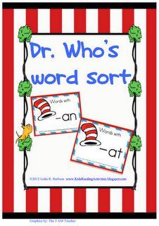Dr. Seuss Word Sort (free!!)