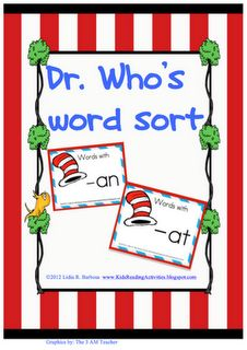 Dr. Seuss - word sort -an/-at
