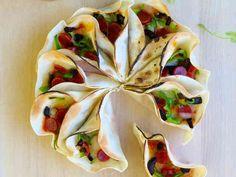 簡単で完璧っ! 餃子の皮のピザ☆の画像