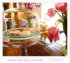 buy a clear glass stand. Decorate for the event with washi tape. Remove and change for each holiday :-)