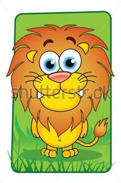 Cartoon lion - vector