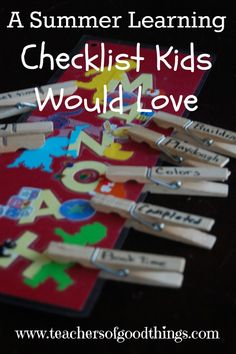 Summer ideas for 10 year old boy too! A Summer Learning Checklist Kids Would Love - easy to make, fun to implement. A great list of ideas for different ages. Summer Slide, Summer Fun, Summer Days, Educational Activities, Learning Activities, Beginning Of The School Year, Summer Activities, Outdoor Activities, Fun Learning