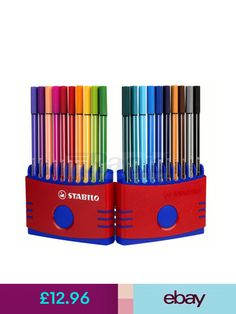 12 x Alberts Assorted Colours Colouring In Pencils Crayons Arts /& Crafts