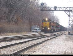 IAIS 714   Description:    Photo Date:  3/20/2008  Location:  Peoria, IL   Author:  Neil Stutzman  Categories:    Locomotives:  IAIS 714(GP38-2)