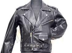 Rockabilly Motorcycle Leather Jacket in black 2010 / Rockabilly Motorrad Lederjacke in schwarz 2010 Chopper, Biker, Herren Winter, Motorcycle Leather, Leather Jacket, Tops, Jackets, Ebay, Black