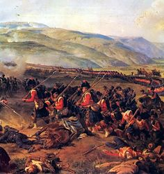 Advance of the British Highlanders at the Battle of Alma, Crimean War. where my great great grandfather was a Gunner with the Royal Regiment of Artillery . Military Art, Military History, Battle Of Balaclava, Red Coats, Crimean War, War Film, King And Country, Film Inspiration, Imperial Russia