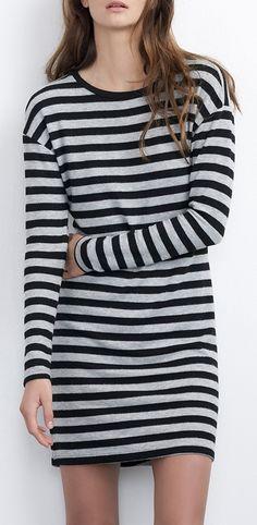 Cozy Jersey Stripe Dress