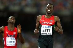 Nicholas Bett wins the 400m hurdles at the IAAF World Championships, Beijing 2015 (Getty Images)