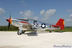 North American P-51C Mustang fighter.