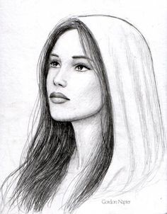This drawing reminds me of Mary and what I think she looks like.