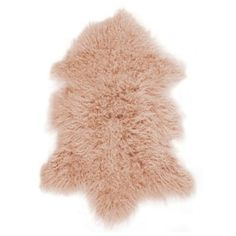 Natural Home Rockwall Mongolian Single Sheepskin Faux Fur Rug - would look great in my living room! Bed Bath & Beyond, Tibet, Pink Home Accessories, Fur Decor, Pink Sheep, Faux Fur Rug, Shops, Sheepskin Rug, Modern Carpet