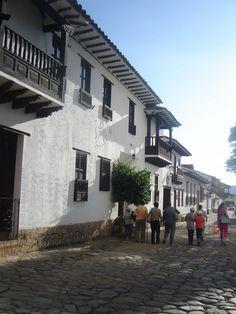 Streets at Villa de Leyva, Boyacá, Colombia
