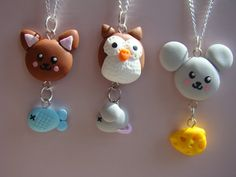"""inspiring: Cute polymer clay pendants by """"daily stuff and juicy secrets"""""""