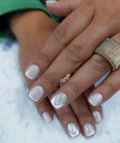 Make Up, Nails, Beauty, Nail Manicure, French Tips, Fingernail Designs, Summer Time, Finger Nails, Ongles