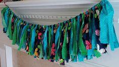 FREE SHIPPING Rag Shabby Chic Boho Fabric Banner by Rags2Treasures, $24.00